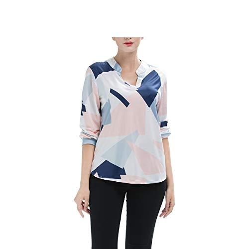 Top Wild da V a con Come S Mostrato stampa mostrato shirt Camicette scollo Come Dimensione Camicette a Camicia colori con T donna Tunica Camicette lunghe a FuweiEncore maniche Felpa Colore I7H8wYqxp