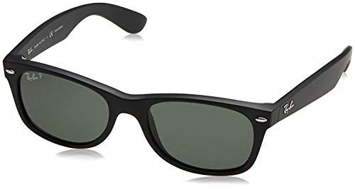 Ray-Ban New Wayfarer Classic, Rubber Black Frame/Polarized Green Lens (Was Sind Ray Ban Sonnenbrillen)