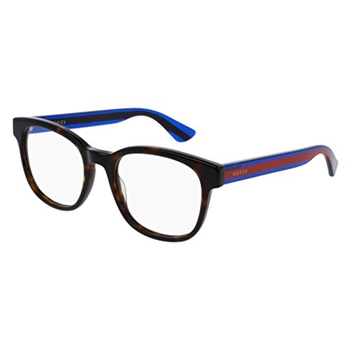 Gucci GG 0005O 007 Havana Plastic Square Eyeglasses - Women Glasses Gucci