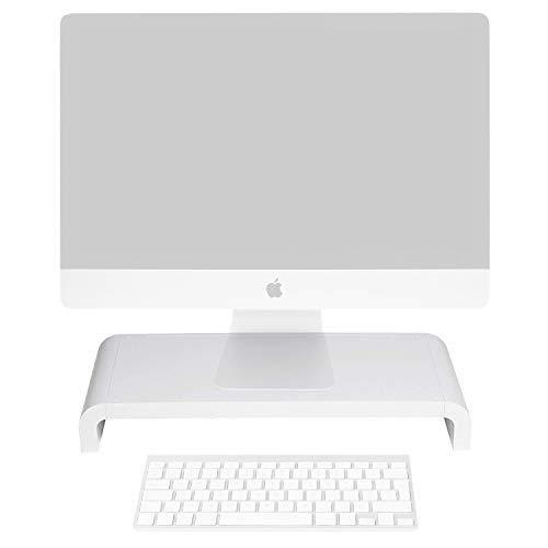 (Lavolta Elevated Monitor Riser Platform Shelf Stand for Apple iMac - White)