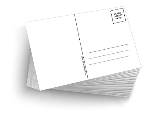"50 Blank Mailable 4""x6"" Heavy Duty 14PT Postcards with Mailing Side"