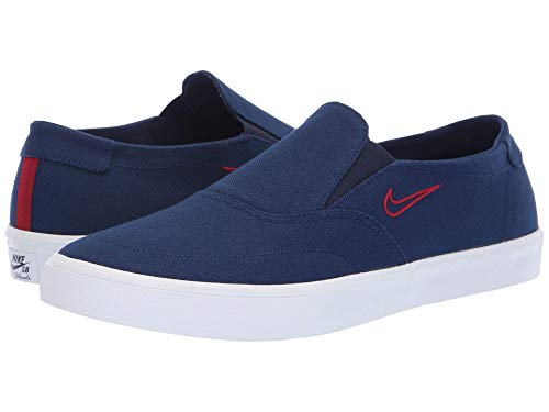 [NIKE(ナイキ)] メンズランニングシューズ?スニーカー?靴 Portmore II Solarsoft Slip Blue Void/Blue Void/Red Crush 11.5 (29.5cm) D - Medium