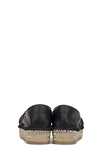 Torapharos Mujer Cuero Negro Espadrilles Zapatos Z5PwUSq