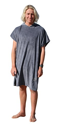 (GetBacktoBasix Surf Microfiber Hooded Surfing Beach Poncho Towel | Quick Dry Soft Changing-Room Bath Robe Towel | One Size Fits All | Ideal Teen Gift)