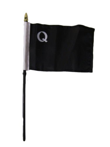 Moon William Quantrill Raiders 4''x6'' Flag Desk Set Table Stick Staff - Vivid Color and UV Fade Resistant - Prime Outside Garden Home - Knife Marine Raider