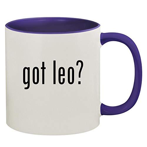 got leo? - 11oz Ceramic Colored Inside & Handle Coffee Mug, Deep Purple (Kottke Leo Christmas)