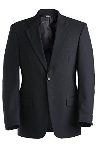 (Ed Garments Men's Single Breasted Wool Blend Suit Coat Navy - 50)