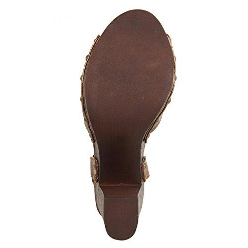 URBAN MARRON A5053 Zapatos de Mujer de tacón XaqIY