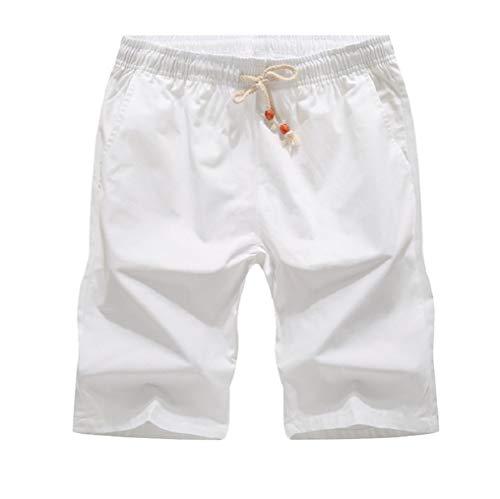 Irima-ya Men's Classic Drawstring Solito Westboard Shorts Beach Short Cropped Pants Swim Trunk (3XーLarge, White) ()