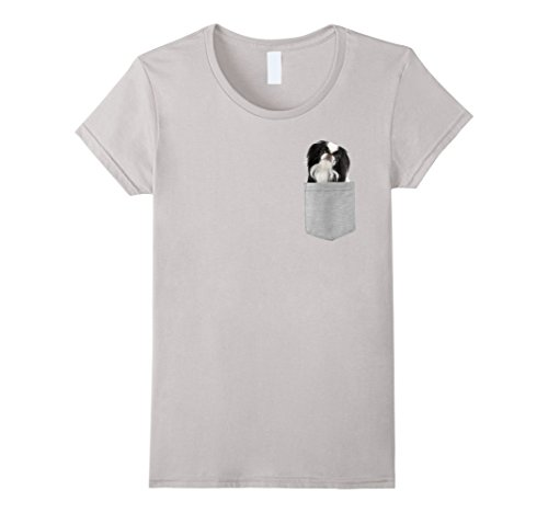 Womens Dog in Your Pocket Japanese Chin t shirt shirt XL Silver