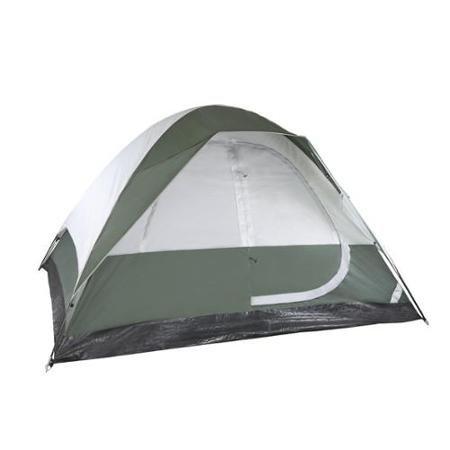Stansport Family Dome Tent - 4 Person[s] Capacitygreen, Light Gray - Steel (2185_7)