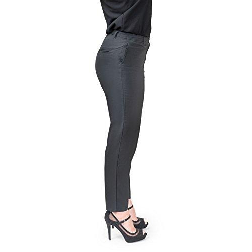 Women's Petite Classic High Waist Trousers (Large, Black) by Cin Cin (Image #3)