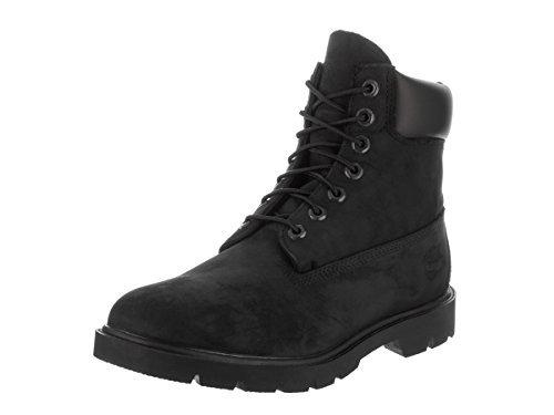 Timberland Mens 6-inch Basic Waterproof Black Nubuck Boot - 12 M