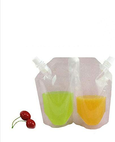 3 x 500ml freezer safe spouted bags for homemade alcoholic frozen slushies