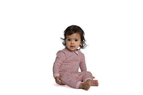 ZippyJamz Organic Baby Footed PJs w/Inseam Zipper - Galaxy Love - Pink (12-18 Mos) by ZippyJamz (Image #3)