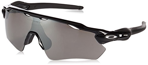Oakley Men's Radar Ev Path Non-Polarized Iridium Rectangular Sunglasses, Polished Black, 38.02 mm