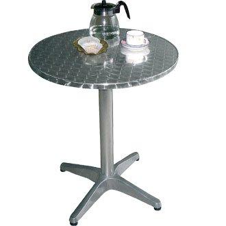 Durchmesser: 80/x 72/cm Bolero Salon-Garten Tisch rund mit Rand gew/ölbt Grundlage sehr strapazierf/ähige