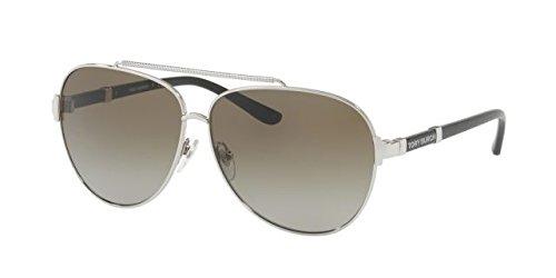Tory Burch Women's 0TY6056 Silver/Smoke Gradient - Sunglasses Aviator Plastic Tory Burch