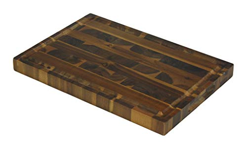 Mountain Woods EGA19 Acacia Hardwood End Grain Cutting Board with Juice Groove, 19