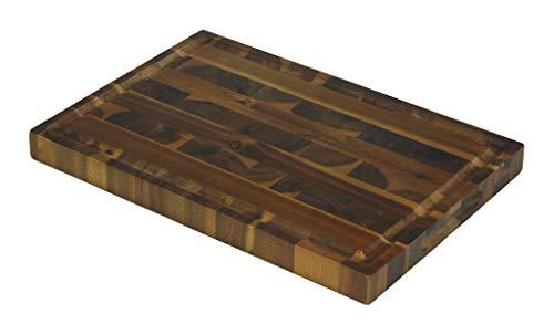 "Mountain Woods EGA19 Acacia Hardwood End Grain Cutting Board with Juice Groove, 19""X13""x1.5"" ()"