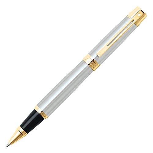 Sheaffer 300, Brushed Chrome, Gold Tone Trim, Rollerball (E1932751) ()