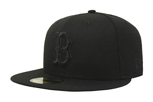 MLB Boston Red Sox Black on Black 59FIFTY Fitted Cap, 7 5/8
