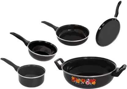 Maharajee Classic Series Induction Bottom Cookware Ceramic Set (Pack of 5 Pieces)