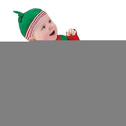 Baby Clothes Outfits Boy Girl Kids Romper Hat Cap Set Christmas Gift 6-12Months Green - Cute Little Elf Costume