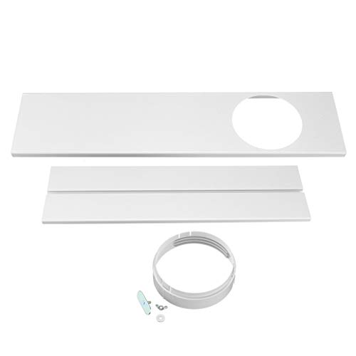 jiumoji 2Pcs Adjustable Window Kit Plate for Portable Air Conditioner 67-120cm Plastic Replacement Vent Seal Set