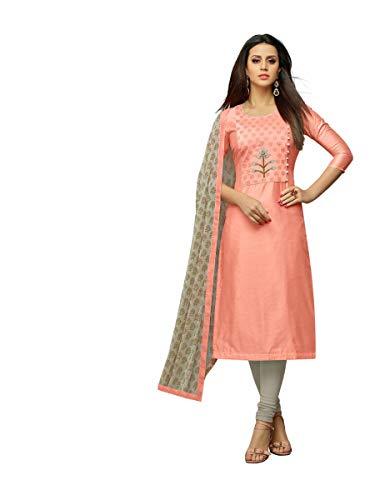 Oomph! Women #39;s Unstitched Chanderi Salwar Suit Dupatta Material