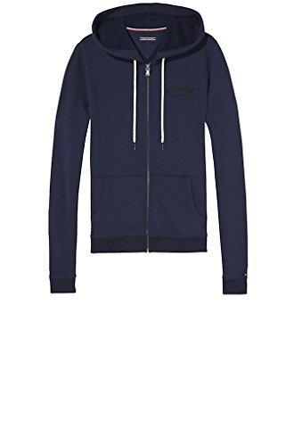 TOMMY THRU UW0UW00391 ZIP NAVY HOODY WOMAN HILFIGHER BLAZER qwZI5rq