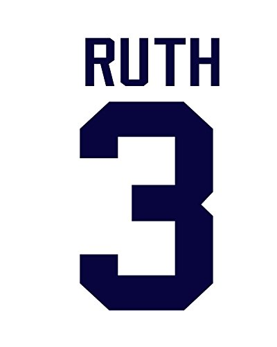 Babe Ruth New York Yankees Jersey Number Kit, Authentic Home Jersey Any Name or Number Available Babe Ruth Numbers