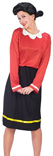 FunWorld Women's Olive Oyl Costume, Black, S 2-8 -