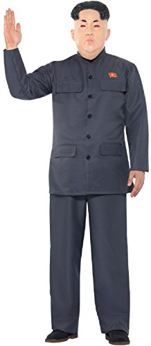 Mens Korean Dictator Leader Suit Comedy International Halloween Stag Do Night Fancy Dress Costume Outfit M,L,XL (Men: -