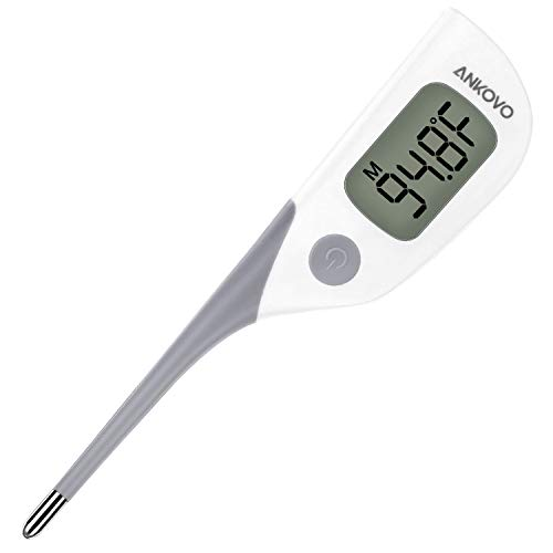ANKOVO Medical Digital Thermometer Oral Rectal and Armpit for Baby Fast 8 Seconds Reading Waterproof with Fever Indicator