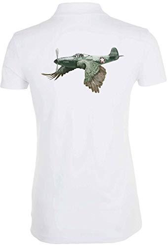 Générique Military Plane Bird Graphic Funny T-Shirt Polo Femme 1