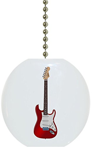 Guitar Solid Red - Red Guitar Solid Ceramic Fan Pull