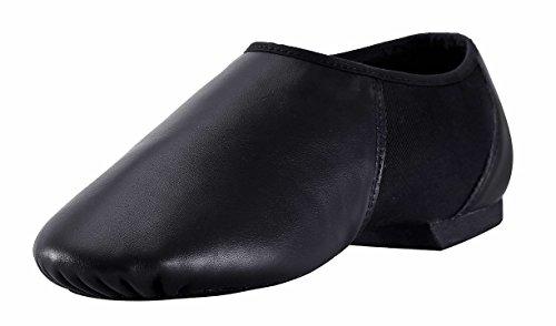 ARCLIBER Leather Jazz Shoe Women/Men Slip-on Black 9 M US (Jazz Shoes Size 9)