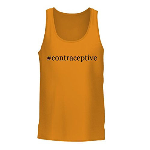 #contraceptive – A Nice Hashtag Men's Tank Top, Gold, Large