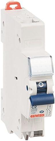 Gewiss Disjoncteur Fixmatic 1P+N C2 4,5KA 1 module Auto//auto 10A