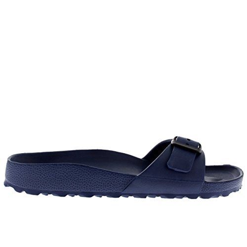 Viva Womens EVA Slides Beach Lightweight Summer Open Toe Single Strap Sandals Navy WYUmuVZo