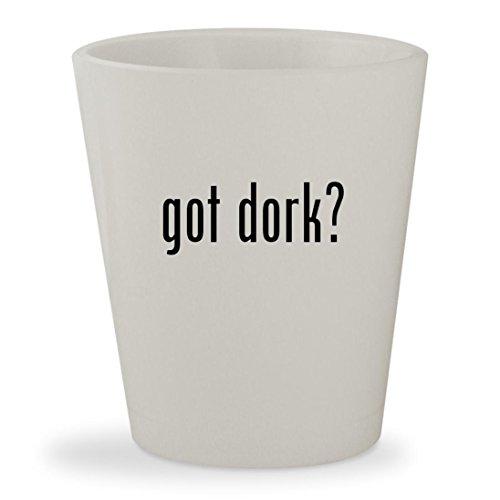got dork? - White Ceramic 1.5oz Shot Glass