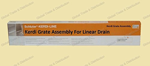 Schluter Systems Kerdi Grate Assembly For Linear Shower Drain / Bonding Flange All Types & Sizes (KLDROE70 Tileable Offset 27-9/16