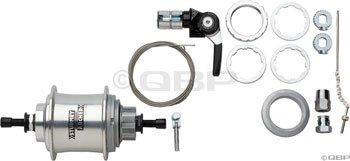 Sturmey Archer S3x Fixed Gear - 3 Speed Internal Fixed Gear Hub Silver ()
