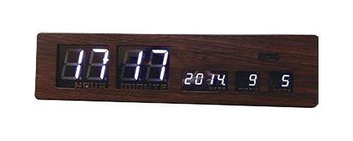 スロウワー 電波時計 LEDクロック アスカリ ウッド 置き掛け兼用 SLW 017 B073VNC23H ウッド ウッド