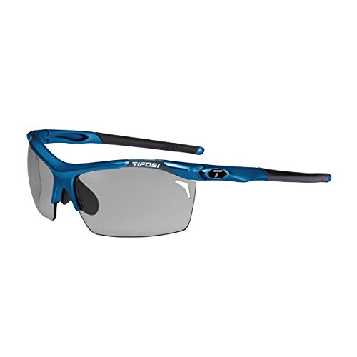 Tifosi Tempt 0140103601 Wrap Sunglasses,Sky Blue Frame/Grey, Red & Clear Lens,One - Discontinued Sunglasses