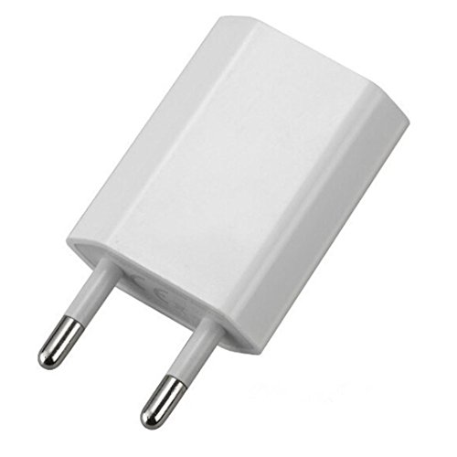 Mchoice European USB Power Adapter EU Plug Wall Travel Charger for iphone for Samsung for LG G5 (White)