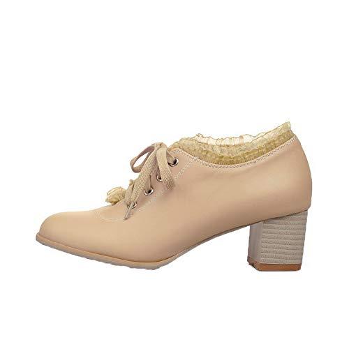 Allacciare Puro Flats Donna Finta Ballet FBUIDD006631 Pelle Beige AllhqFashion Scamosciata Xw0IPxqxC