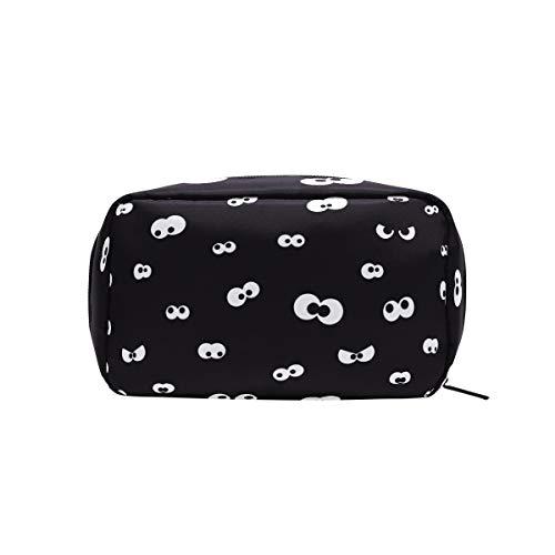 Black Halloween Ghostly Eye Cosmetic Bag Makeup Case Toiletry -