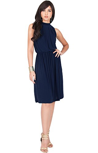 Neck Matte Jersey Dress - 6